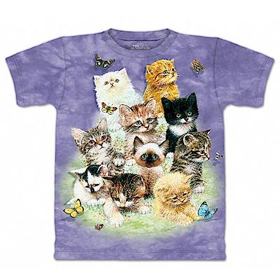 摩達客 美國進口The Mountain 10隻貓 純棉環保短袖T恤