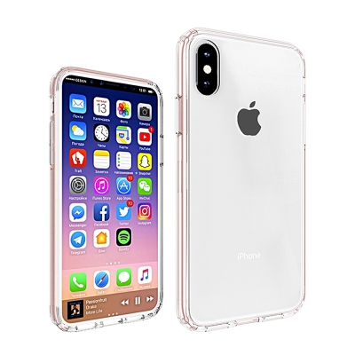 QinD Apple iPhone X 雙料保護套