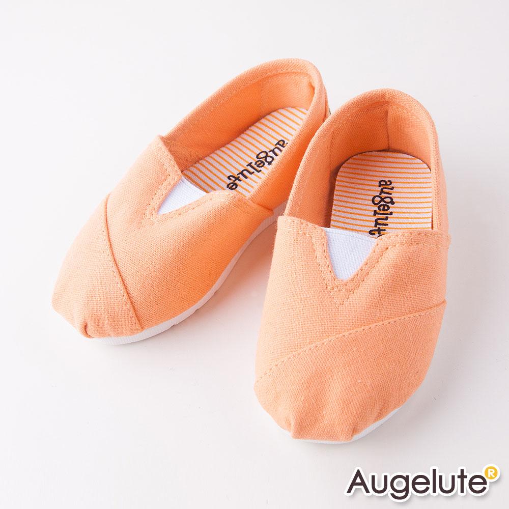 baby童衣 條紋懶人平底休閒鞋橘色 F1051