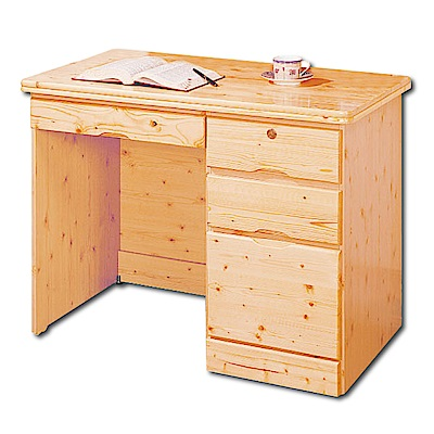 AS-威廉松木3.5尺書桌(下座)-105x57x76cm