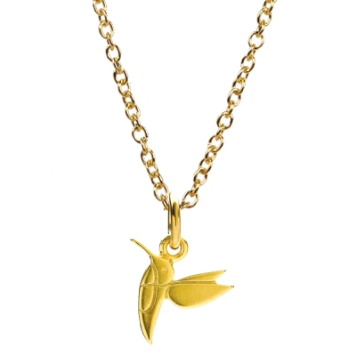 Dogeared 許願項鍊 金色甜美蜂鳥 Sweet Hummingbird  附原廠盒