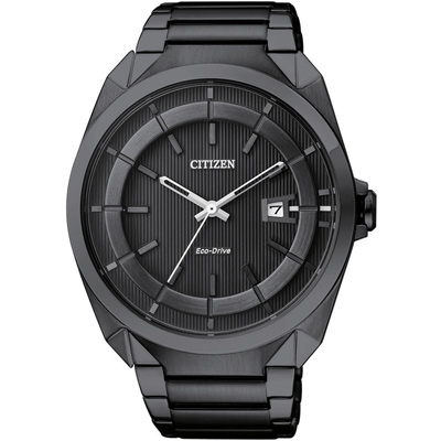 CITIZEN Eco-Drive都會新貴三針光動能錶(AW1015-53E)-IP黑/42mm