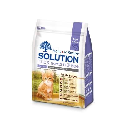 SOLUTION 耐吉斯 成幼貓 低敏護毛配方 精選鱒魚&深海鮭魚 6磅 X 1包