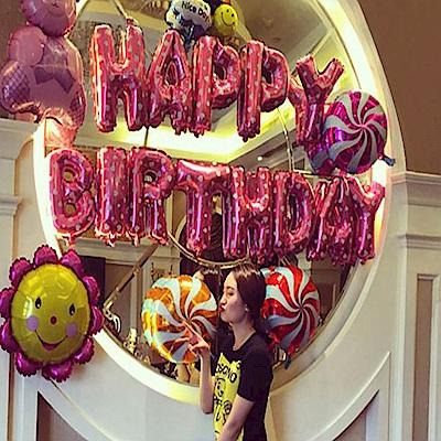 WIDE VIEW 生日快樂派對粉色氣球套餐(BL-03)