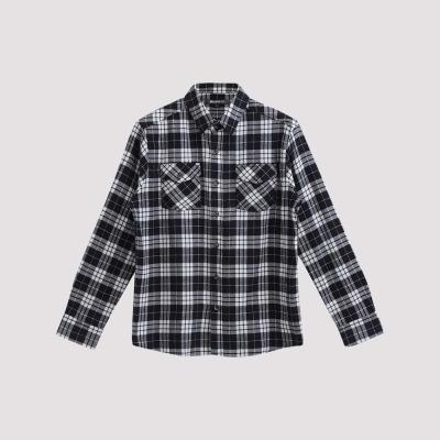 Hang Ten - 男裝 - 雙口袋法蘭絨格紋襯衫 - 黑