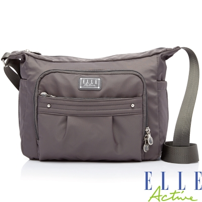 ELLE-ACTIVE-優雅隨行系列-側背包-灰色