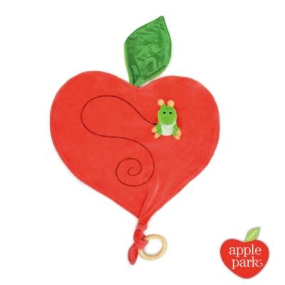【美國 Apple Park】有機棉手指玩偶安撫巾 - 蘋果小蟲