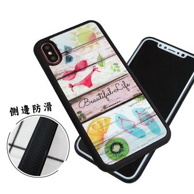 石墨黑系列 iPhone X 高質感側邊防滑手機殼(比基尼)