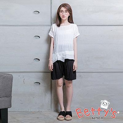 betty's貝蒂思 優雅寬鬆短褲(黑色)
