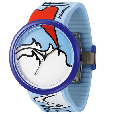 o.d.m. Time Gallery 時光畫廊系列腕錶-藍/40mm