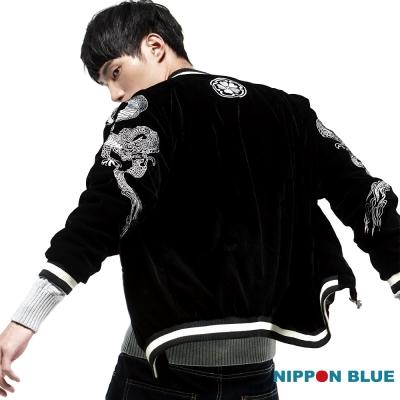 日本藍 BLUE WAY 金標橫須賀精繡雙面穿棒球外套
