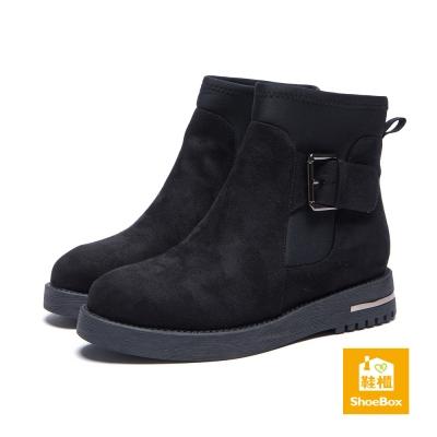 達芙妮DAPHNE-ShoeBox系列-短靴-側扣
