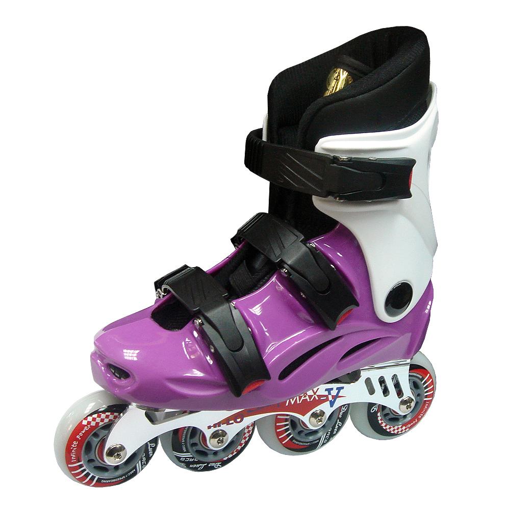 DLD V-MAX 鋁合金直排輪 紫/白