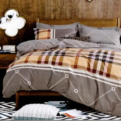 生活提案 純棉涼被床包組四件組-賽洛克/加大