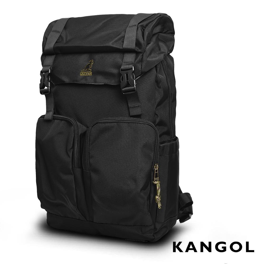 KANGOL 英式時尚卓越登山機能15吋筆電後背包(黑)KG51158