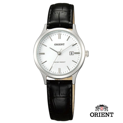 ORIENT 東方錶TRADITIONAL STYLE系列 復古石英錶-白/28mm