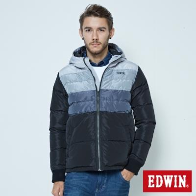 EDWIN 漸層羽絨外套-男-黑色
