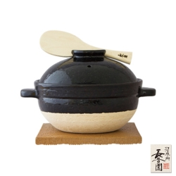 日本長谷園伊賀燒 遠紅外線節能日式炊飯鍋(