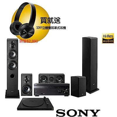 SONY 家庭劇院組 (STR-DH770+PS-HX500+SS-CS系列揚聲器)