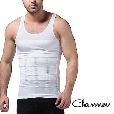 男性機能塑身衣 坦克加壓版背心 白色 Charmen