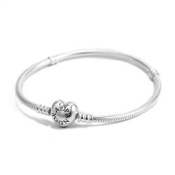 Pandora 潘朵拉 925純銀愛心扣頭手鍊手環