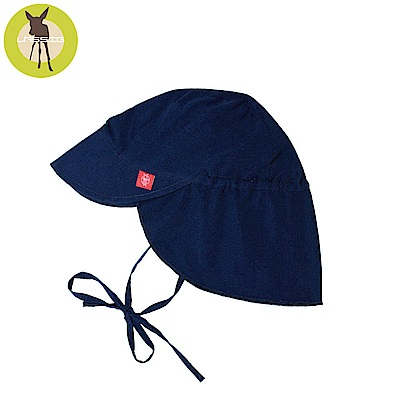 德國Lassig-嬰幼兒抗UV防曬遮頸帽-海軍藍