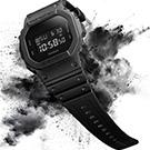 G-SHOCK 新經典代表個性霧面數位休閒錶(DW-5600BB-1)-黑/48.9mm