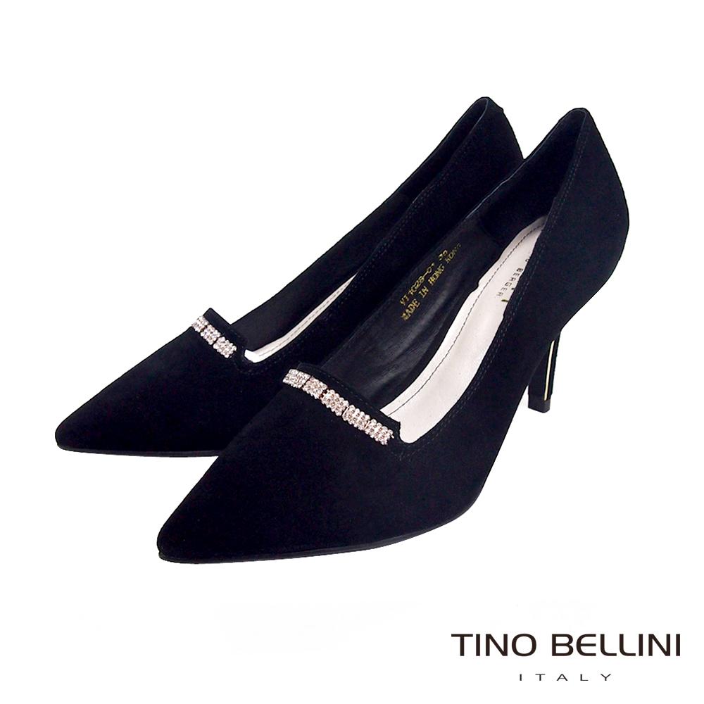 Tino Bellini 極緻優雅魅力細鑽跟鞋_奢華黑