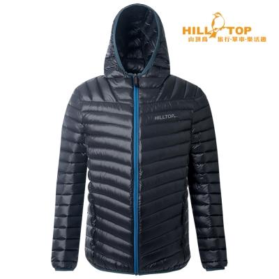 【hilltop山頂鳥】男款超撥水輕量蓄熱羽絨外套F22MW0黑