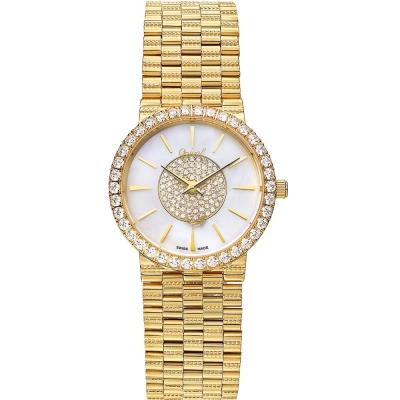 Ogival瑞士愛其華  尊寵滿天星石英腕錶-金