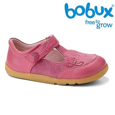 Bobux 紐西蘭 i walk 童鞋學步鞋 亮粉色葉子鞋款
