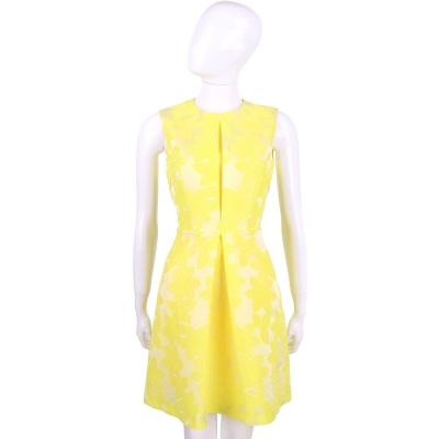 BLUGIRL 黃色繡花無袖洋裝