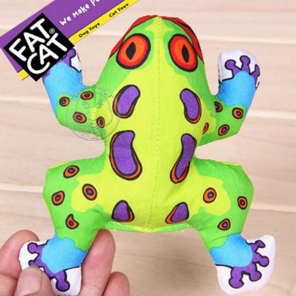 美國FATCAT》狗貓玩具耐咬含貓草發聲青蛙9cm