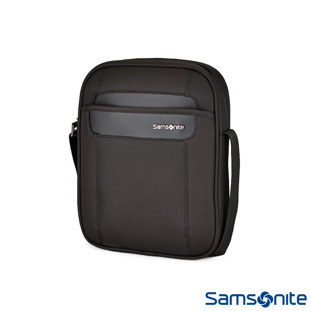 Samsonite新秀麗 Satara經典內斂格調肩背包(黑)