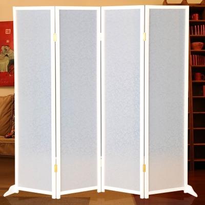時尚屋 現代白色6尺亞馬遜屏風 寬182cm-免組