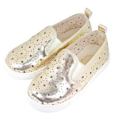 Swan天鵝童鞋-星星雕花摟空親子休閒鞋-寶貝款 3804-金