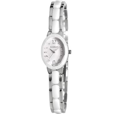 MANGO 花漾迷人陶瓷腕錶-白/26mm