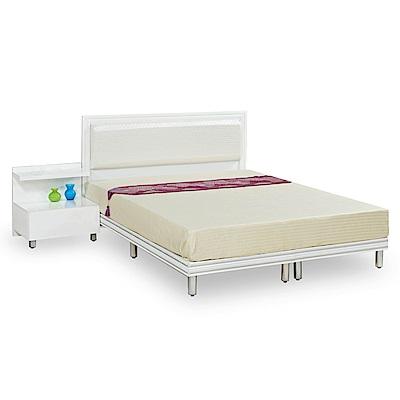 時尚屋 特倫斯純白5尺雙人床架(不含床頭櫃-床墊)