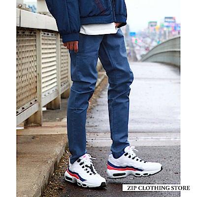 貼腿窄管休閒長褲(15色) ZIP日本男裝