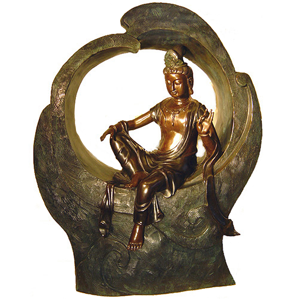 富貴吉祥  海觀音佛像 銅雕