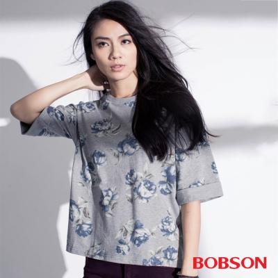BOBSON  女款印花寬版上衣