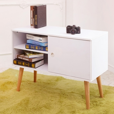 澄境 日系低甲醛四格收納茶几邊桌(90.2x40.2x70.8cm)-DIY