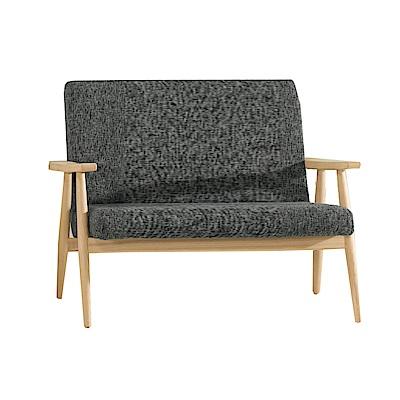 品家居 巴澤爾棉麻布實木雙人沙發椅-118x71x84cm-免組