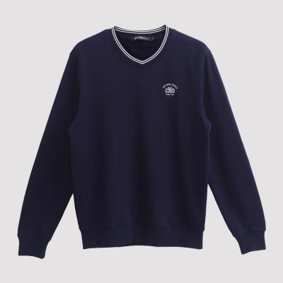 Hang Ten - 男裝 - 草寫字母美式大學T - 藍