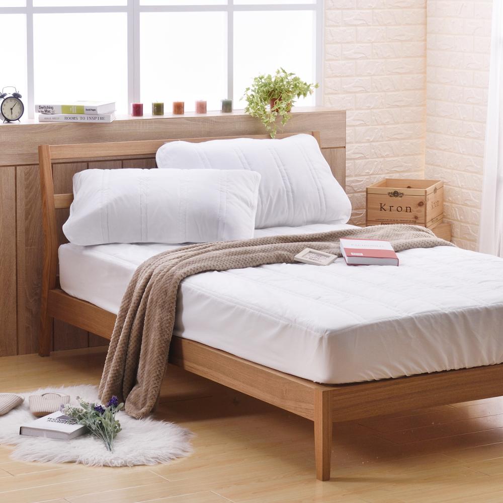 喬曼帝Jumendi 天然防蹣防蚊單人床包式保潔墊