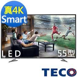 福利品-TECO東元 55吋 真4K Smart 液晶顯示器+視訊盒 TL55U1TRE