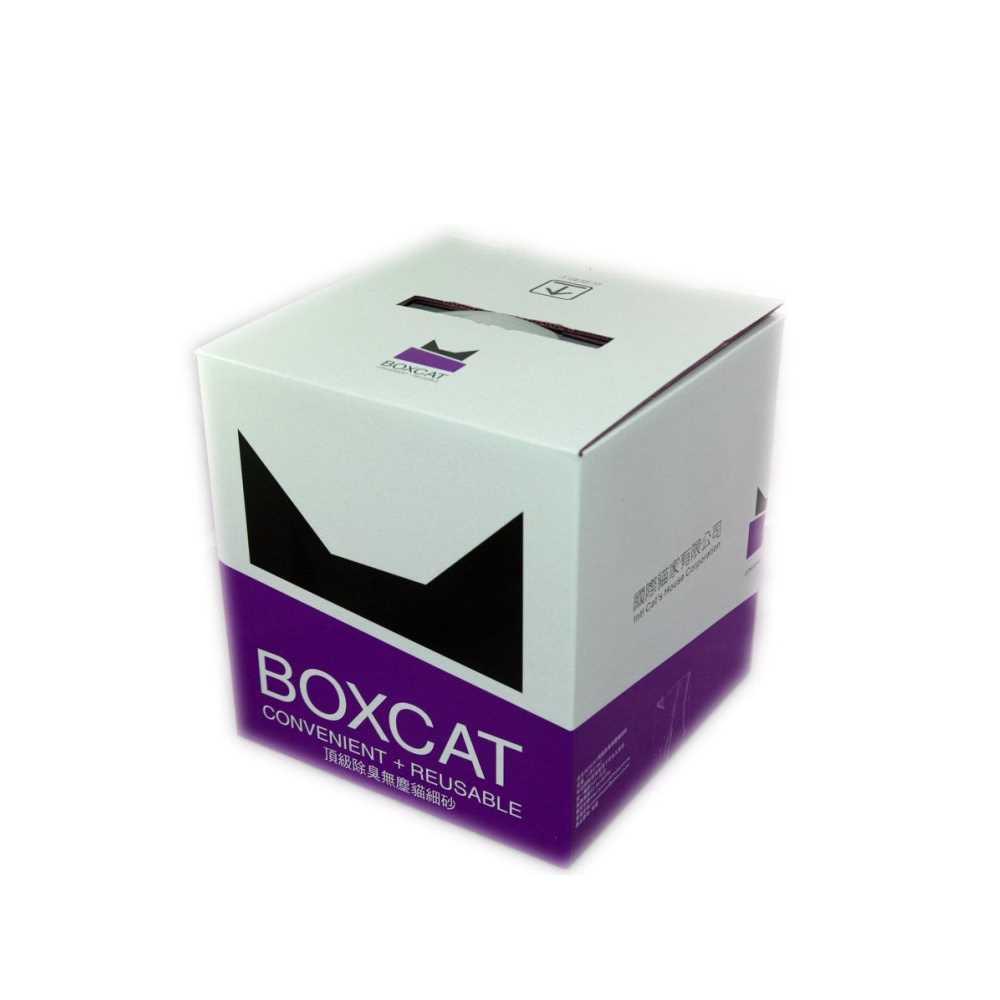 國際貓家BOXCAT 紫標-威力除臭奈米銀粒子貓砂 12L(10kg)  2入組