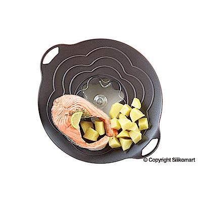 義大利製SiliKoMart專利防漏-聰明蒸煮鍋蓋(S)-黑