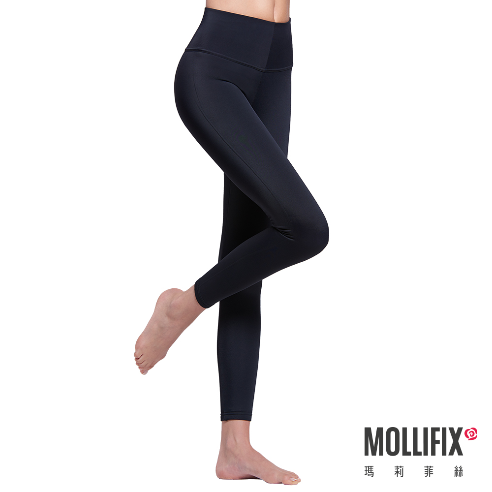 Mollifix 極暖抗寒BABY絨塑身褲 (黑)