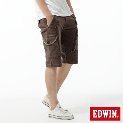 EDWIN存在主義-503-KHAKI-拉鍊短褲-男款-咖啡